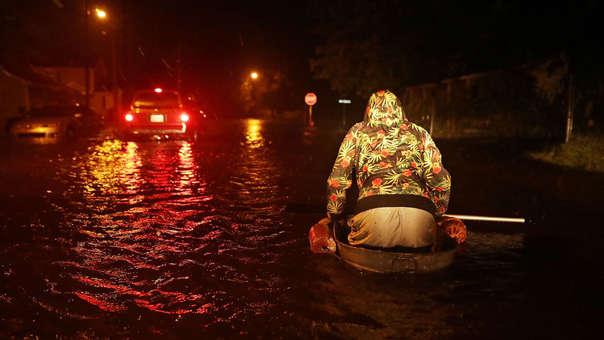 Inundación en New Bern, Carolina del Norte, por el huracán Florence.