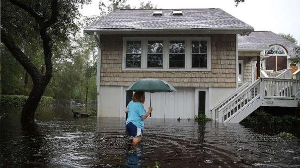 Así luce Southport, Carolina del Norte, tras el paso del huracán.