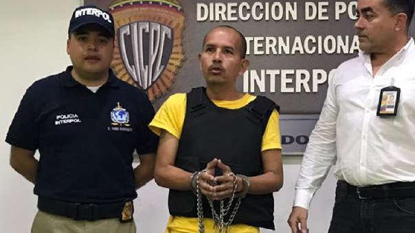 Juan Carlos Sánchez, el 'Lobo Feroz'. antes de ser extraditado a Colombia.