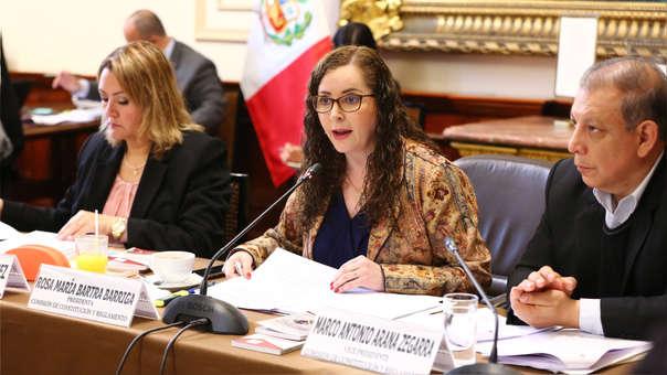 Rosa Bartra, presidenta de la Comisión de Constitución.