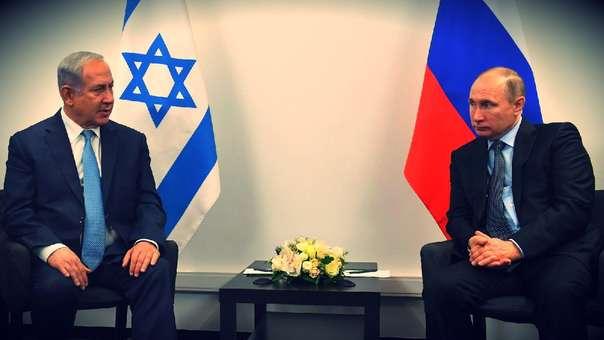 Netanyahu y Putin, líderes de Israel y Rusia, durante un encuentro.