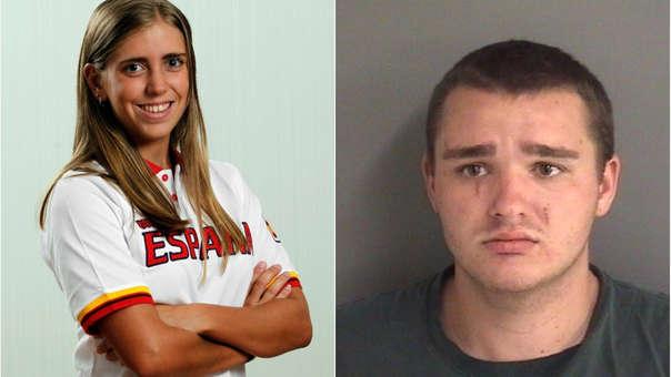 Izquierda: Celia Barquín en 2014. Derecha: Collin Daniel Richards, el principal sospechoso del asesinato de la joven.
