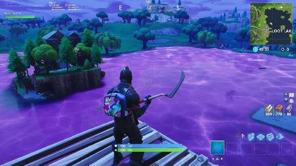 Lago morado en Fortnite