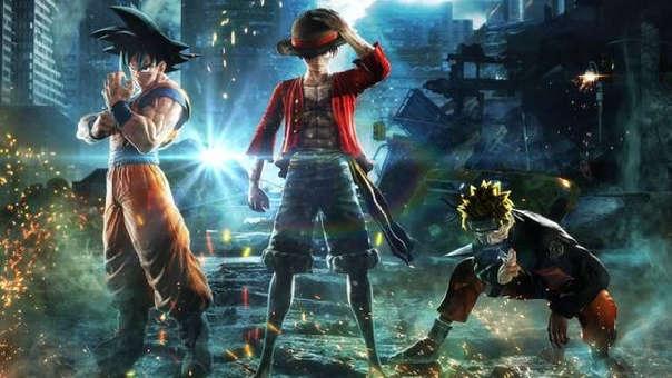 Goku, Luffy y Naruto en Jump Force