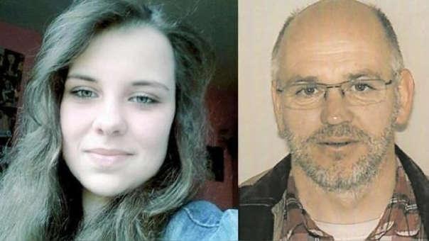 La adolescente y el adulto con el que presuntamente huyó.