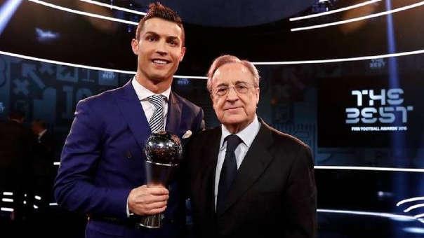 Florentino Pérez elogió a Cristiano Ronaldo y le abrió las puertas ... a8a754720630