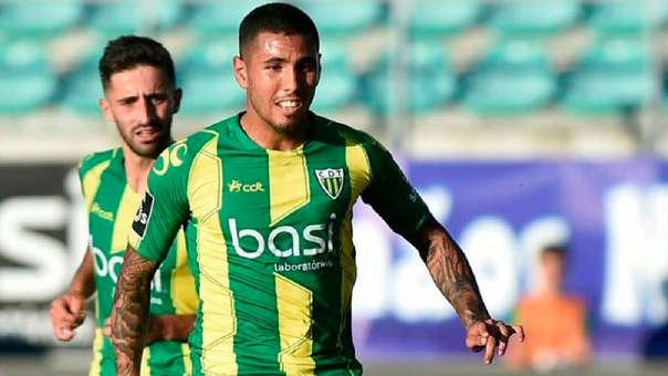 Sergio Peña anotó un gol en su primer partido con el Tondela en la Liga de Portugal.