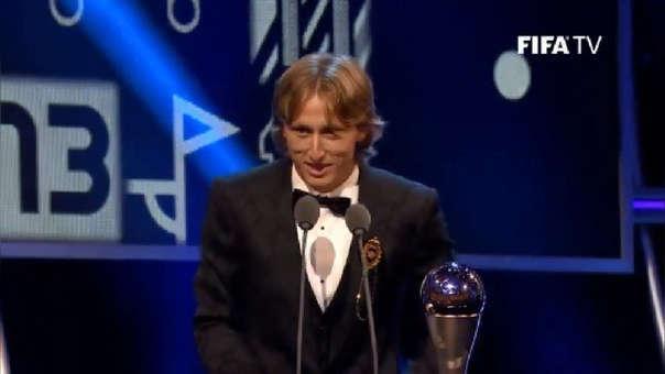 Luka Modric es el primer jugador, tras Cristiano Ronaldo, que gana el premio The Best.