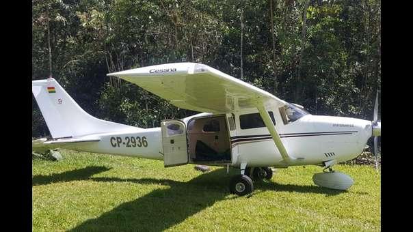 Hallan avioneta con cargamento de cocaína en Bahuaja Sonene
