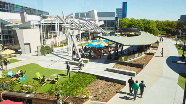 Googleplex, la sede central de Google en Mountain View