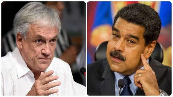 Sebastián Piñera y Nicolás Maduro