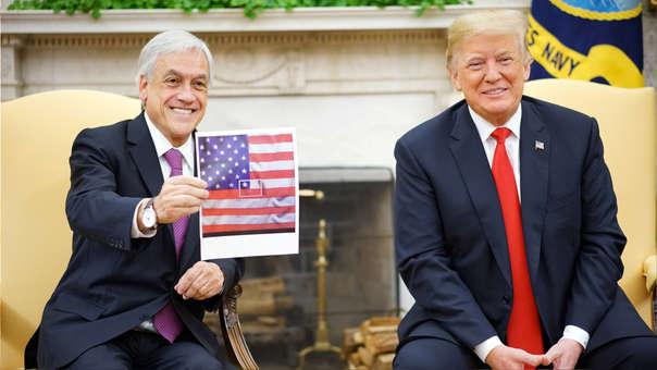 Sebastian Piñera y Donald Trump
