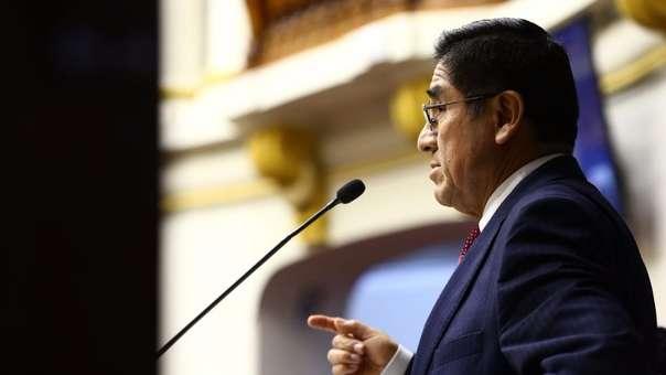 César Hinostroza expuso sus descargos en la Comisión Permanente del Congreso de la República.