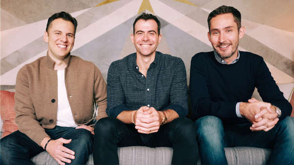 Mike Krieger, Adam Mosseri y Kevin Systrom