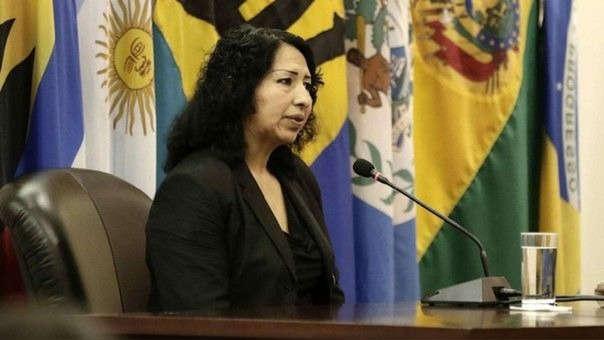Gladys Escobar, madre de Walter, durante una audiencia ante la Corte Interamericana de Derechos Humanos (CorteIDH) el pasado viernes 25 de mayo de 2018, en San José, Costa Rica.
