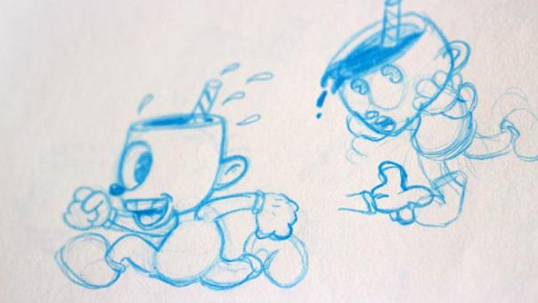 Cuphead: primeros bocetos