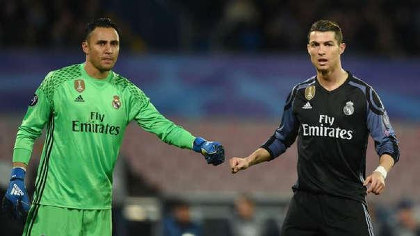 Cristiano Ronaldo y Keylor Navas jugaron juntos en el Real Madrid desde la temporada 2014/2015.