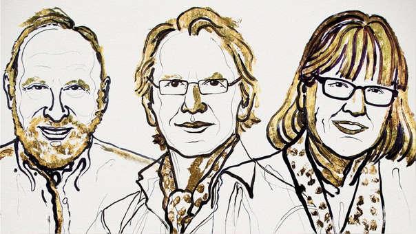 Arthur Ashkin, Gérard Mourou y Donna Strickland, los ganadores del Nobel de Física 2018.