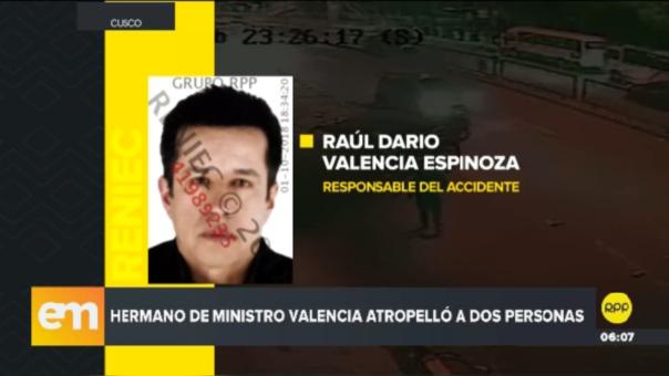 Raúl Darío Valencia es acusado de atropellar a dos jóvenes.