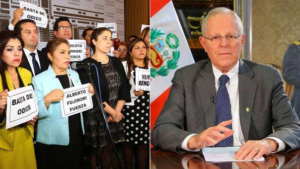 La bancada de Fuerza Popular protestó tras la anulación del indulto. Sin embargo, PPK asegura que ellos mismos buscaron su vacancia para evitar que él le conceda la libertad a Alberto Fujimori.