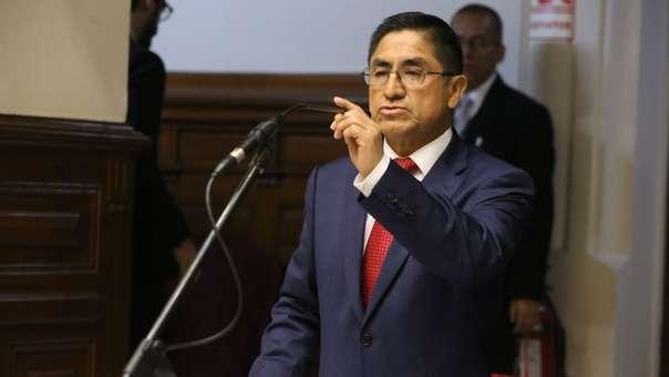 El suspendido magistrado realizó sus descargos ante el Legislativo.