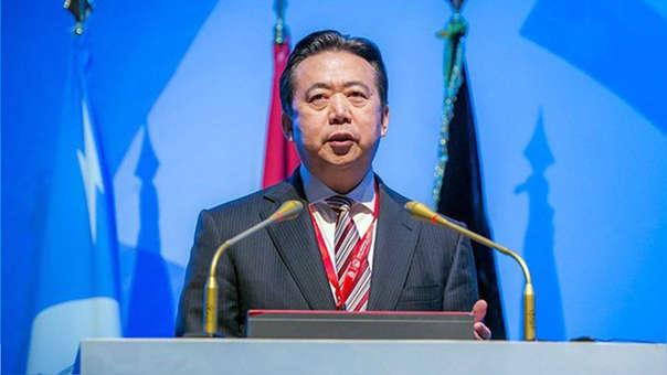 El presidente de la Interpol, el chino Hongwei Meng, durante un acto celebrado en Bali (Indonesia).