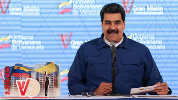 Nicolás Maduro durante un acto de entrega de viviendas.