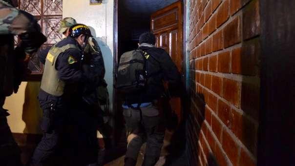 Policía Nacional capturó a 15 presuntos integrantes de Los Malditos de Angamos.
