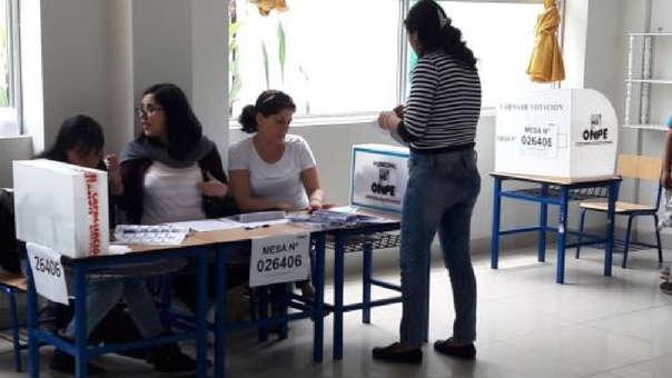 La jornada electoral inició a las 8 de la mañana.