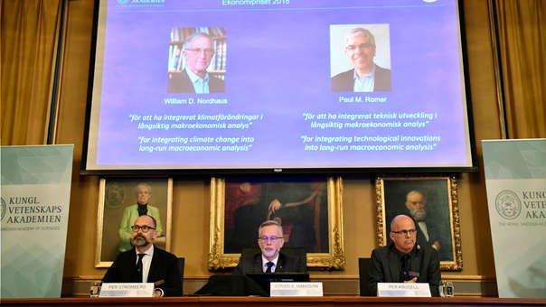 El anuncio del Premio Nobel de Economía por la Academia de Ciencias.