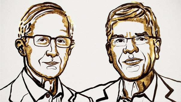 Los economistas ganadores del Premio Nobel.