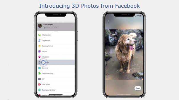 Facebook añade fotografías 3D en las publicaciones