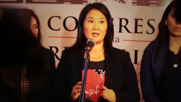 La lideresa de Fuerza Popular presentó un documento de siete puntos de compromiso durante el debate presidecial.