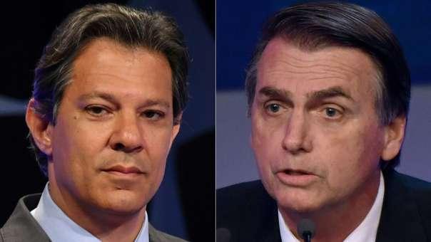 Fernando Haddad (izquierda) y Jair Bolsonaro (derecha). Uno de ellas será el próximo presidente de Brasil.
