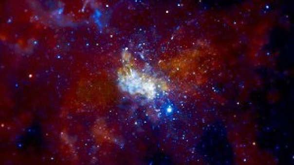 Imagen de Sagitario A* que fue elaborada por el Observatorio Chandra de Rayos X.