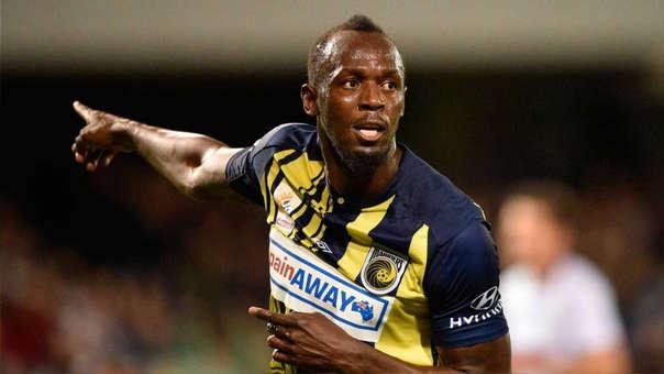 Usain Bolt tiene dos goles como futbolista en la segunda división de Australia.