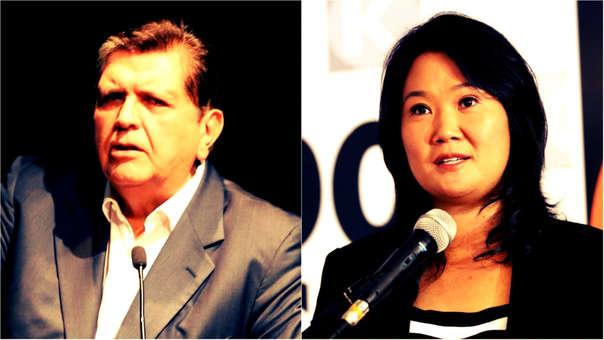 Alan García y Keiko Fujimori se mantienen como los líderes con más desaprobación.
