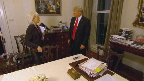 El momento de la entrevista en el que se ve el cuadro