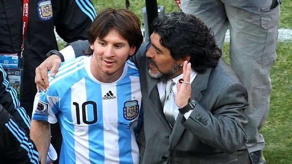 Diego Maradona dirigió a Lionel Messi en el Mundial Sudáfrica 2010.
