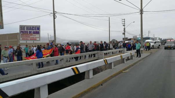 Protesta de trabajadores estatales.