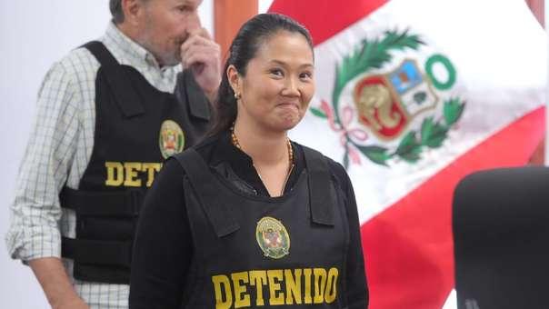Keiko Fujimori durante la audiencia de su apelación.