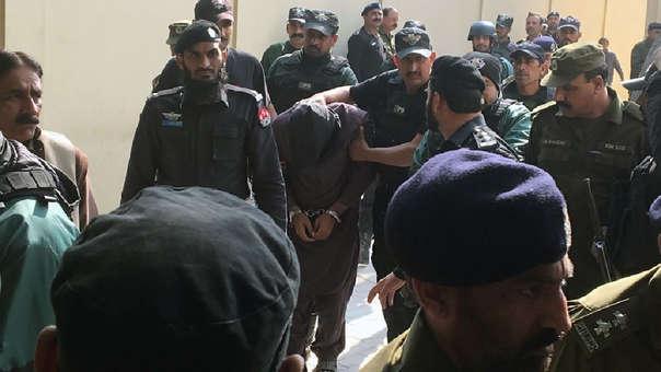 Imran Ali durante una traslado de la Policía.