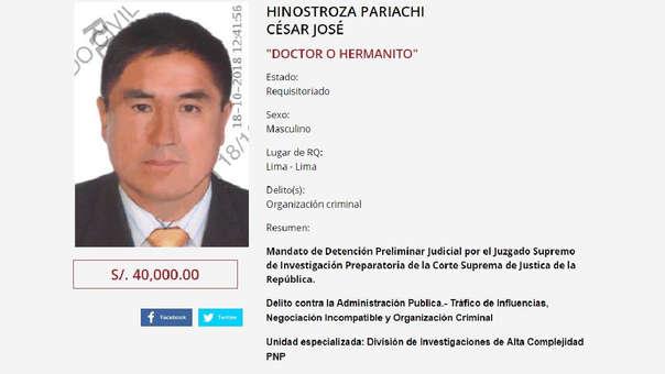 La fuga de Hinostroza apareció en los medios españoles.