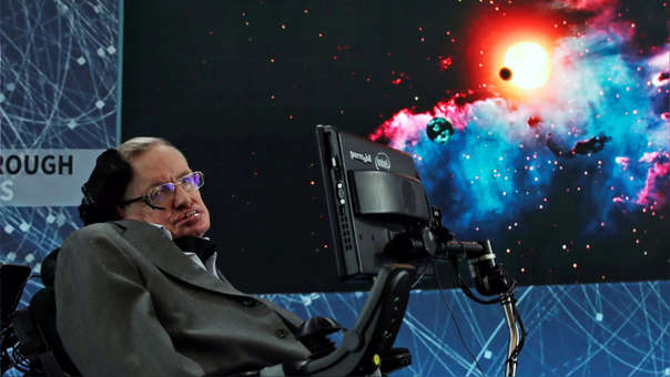 Stephen Hawking durante una rueda de prensa en el One World Trade Center, en Nueva York,