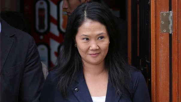 Keiko Fujimori a su salida de su suspendida audiencia de preventiva del pasado domingo.