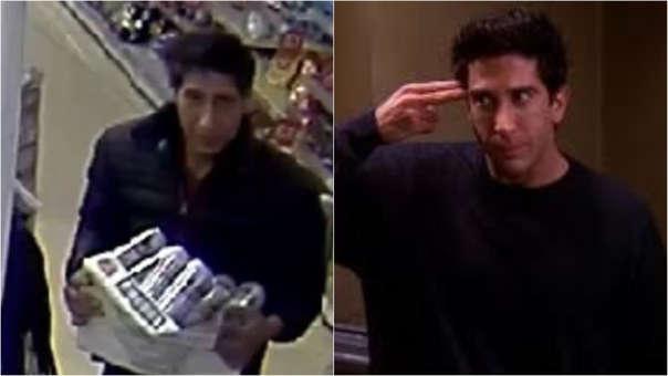 La imagen del ladrón que fue confundido con Ross de 'Friends'.