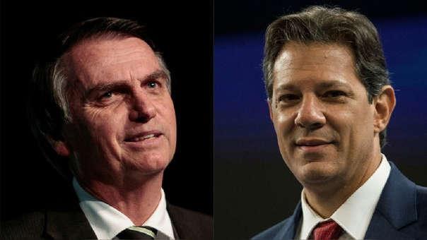 Jair Bolsonaro y Fernando Haddad