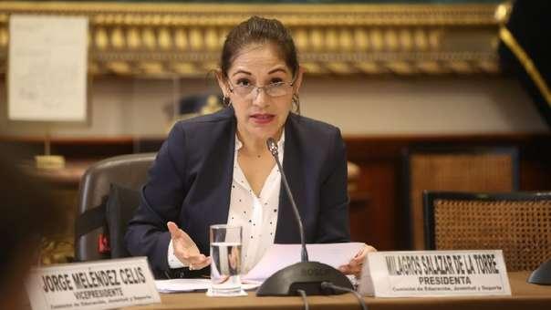 Milagros Salazar, congresista de Fuerza Popular.