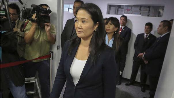 Keiko Fujimori durante la audiencia de este miércoles