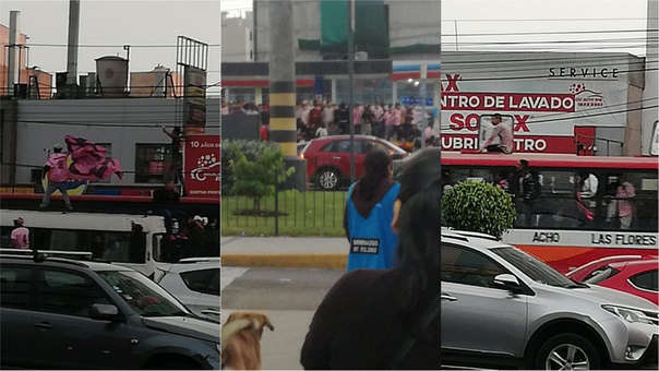 Los hinchas del equipo chalaco se movilizaron por la avenida La Marina.
